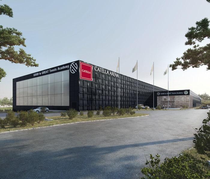 Catella Arena ska bli en av världens ledande tennisanläggningar