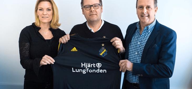 Hjärt-Lungfonden frontar AIK:s matchtröja