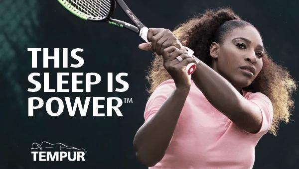 Tempur väljer Serena Williams för rekordstor kampanj