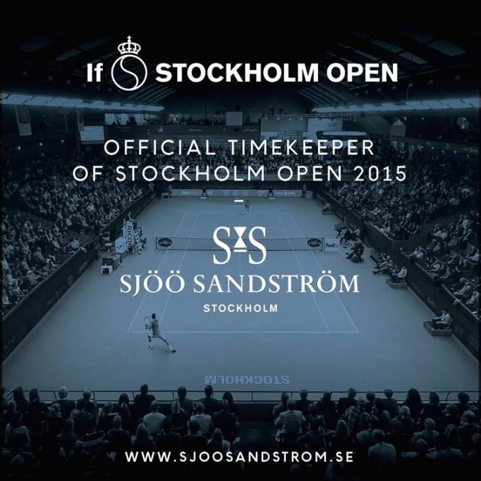 Sjöö Sandström servar Stockholms tennisvecka