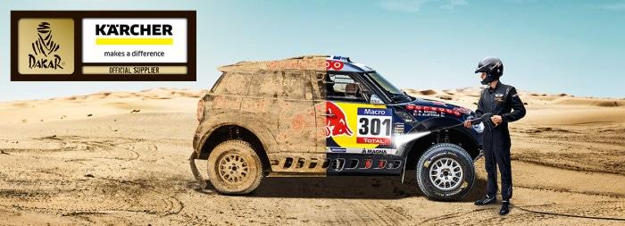 Kärcher ger Dakar Rally miljövänlig biltvätt