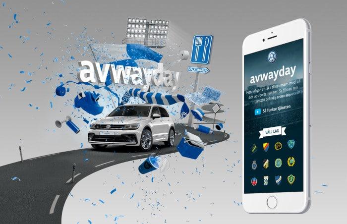 Volkswagen lanserar Avwayday – en digital samåkningstjänst för fotbollssupportrar