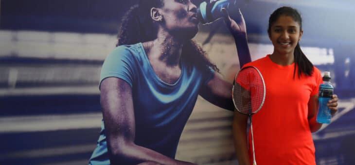 Badmintonspelaren Ashwathi Pillai är ny ambassadör för Powerade